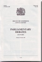 Hansard (Daily) - House of Commons: Parliamentary Debates