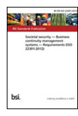 Societal security. Business continuity management systems. Requirements