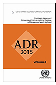ADR 2015 (European Agreement Concerning the International Carriage of Dangerous Goods by Road)  book