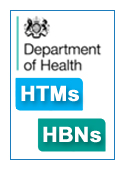 NHS Estates Health Building Notes and Technical Memorandum image links to publications