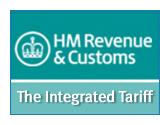 HM Revenue and Customs Tariff image link to publication information