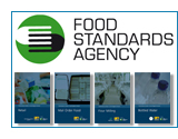 Food Standards Agency logo and publications images shortcut to product listing page