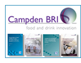 Campden BRI logo and pblication images shortcut to product listings page
