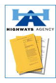 highways Agency logo and exmaple product covers.
