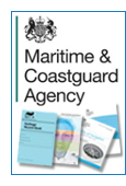 Maritime and Coastguard Agency logo and example jacket images.