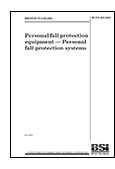 Personal fall protection equipment - Personal fall protection systems