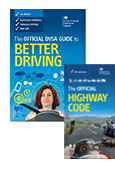 The Official DVSA Guide to Better Driving and The Official Highway Code 2015 edition book jackets
