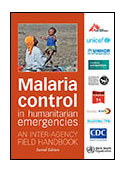 Malaria Control in Humanitarian Emergencies cover