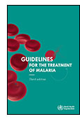 Guidelines for the Treatment of Malaria - Third Edition cover