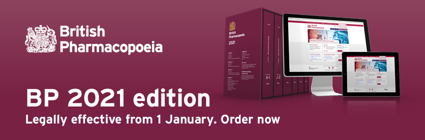 British Pharmacopoeia 2021 - Legally effective from 1 January. Order now