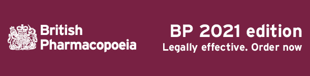 British Pharmacopoeia legally affective 2021