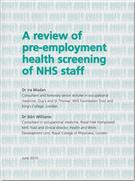 A Review of Pre-employment Health Screening of NHS Staff - Front