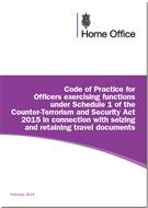 Code Of Practice For Officers Exercising Functions Under Schedule 1 Of The Counter-Terrorism And Security Act 2015 In Connection With Seizing And Retaining Travel Documents - Front