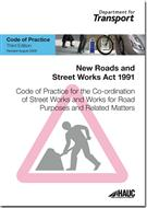 Code of Practice for the Co-ordination of Street Works and Works for Road Purposes and Related Matters - Front
