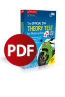 The Official DVSA Theory Test for Motorcyclists 2012 Edition Downloadable PDF - Front