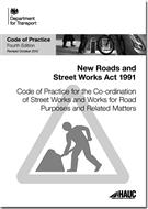Code of Practice for the Co-ordination of Street Works and Works for Road Purposes and Related Matters 4th edition (revised October 2012) - Front