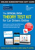 The Official DVSA Theory Test Kit for Car Drivers - online subscription gift card - Front