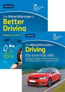 The Official DVSA Guide to Better Driving and The Official DVSA Guide to Driving - the essential skills book jackets
