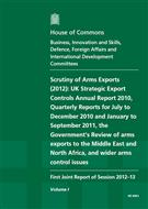 Scrutiny of arms export controls (2012): - Front