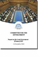 Report on the Local Government (Finance) Bill - Front