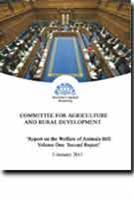 Report on the Welfare of Animals Bill: Volume One - Second Report - Front