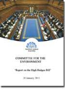 Report on the High Hedges Bill (NIA 15/0 - Front