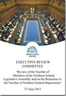 Review of the Number of Members of the Northern Ireland Legislative Assembly and on the Reduction in the Number of Northern Ireland Departments - Front
