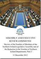 Review of the Number of Members of the Northern Ireland Legislative Assembly and of the Reduction in the Number of Northern Ireland Departments: Part 2 - Front