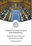 Report On The Civil Service (Special Advisers) Bill - Front