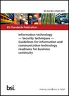 Information Technology - Security Techniques - Guidelines For Information And Communication Technology Readiness For Business Continuity - Front