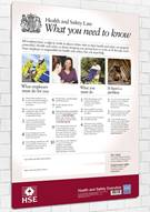 Health and Safety Law Poster - What You Need to Know - Front