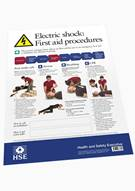 Electric Shock First Aid Procedures Poster