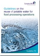 Guidelines on the Reuse of Potable Water for Food Processing Operations - Front