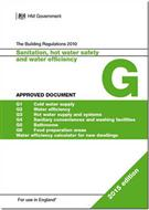 The Building Regulations 2015: Approved Document G: Sanitation, hot water safety and water efficiency, 2015 edition - Front