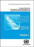 European Agreement Concerning the International Carriage of Dangerous Goods by Inland Waterways (ADN) 2015  - Front