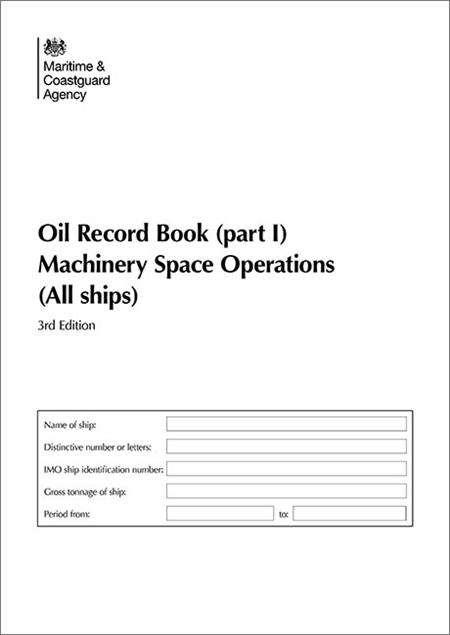 Oil record book part i machinery space operations all ships price 500 fandeluxe Choice Image
